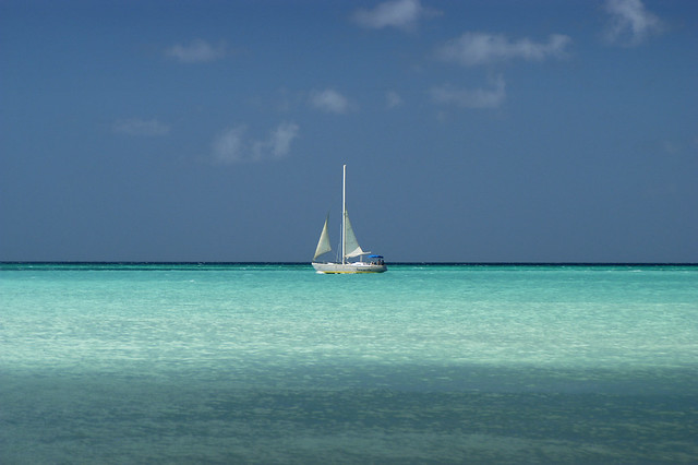 View from Eagle beach, Aruba