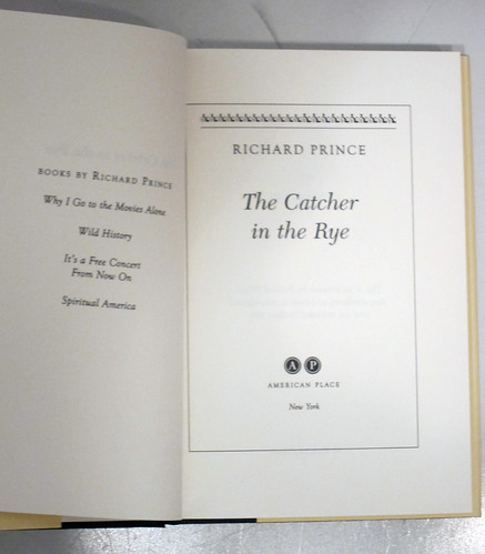 The Catcher in the Rye, a novel by Richard Prince interior