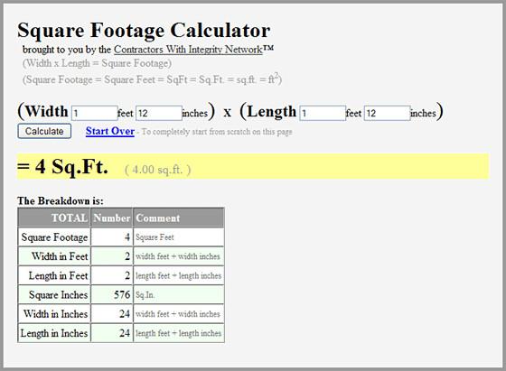 Square Footage Calculator | Square Footage Calculator is an