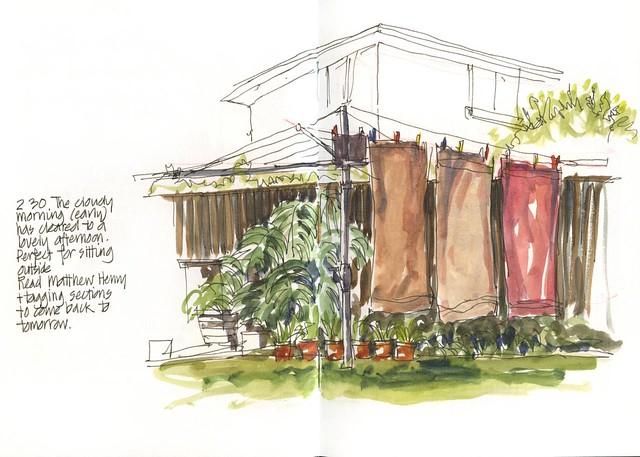 111015 Sketchcrawl 33_03 Hills Hoist and Lap&Cap by borromini bear
