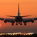 Boeing 747 Landing during sunrise by Tim de Groot - AirTeamImages