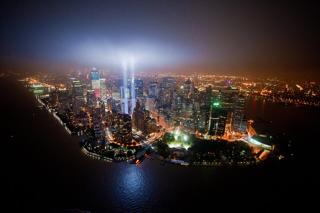 Bird's-eye view of Tribute In Lights