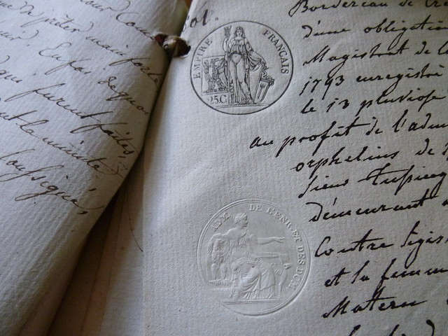 Old document with nice stamp