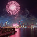 Fireworks over Midtown Manhattan