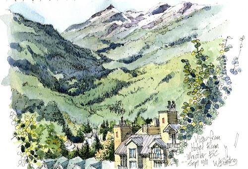 whistler watercolour
