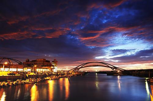 sunset night taiwan 夕陽 台灣 夜景 桃園 日落 風景 永安漁港 永安 火燒雲 風景獵人 yonganwharf