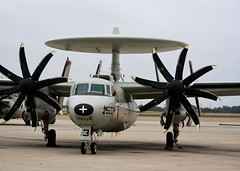 bomber(0.0), flight(0.0), aircraft engine(0.0), aviation(1.0), northrop grumman e-2 hawkeye(1.0), military aircraft(1.0), airplane(1.0), propeller driven aircraft(1.0), wing(1.0), vehicle(1.0), propeller(1.0), air force(1.0),
