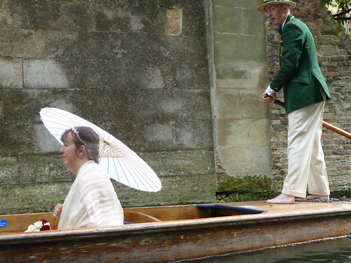Punting on River Cam at Cambridge, England