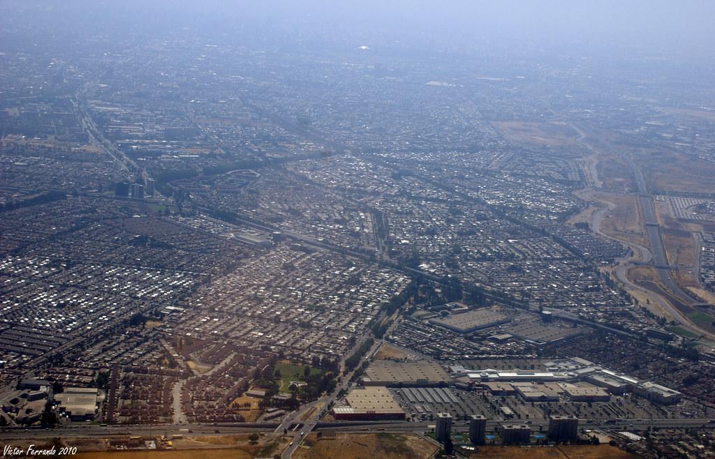 Vista aerea de Santiago de Chile