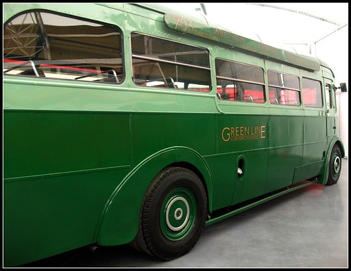 London transport Greenline T504 AEC Regal 1938. London Bus Museum 18/09/11.