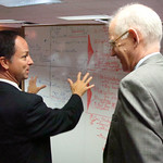 David Relining, CEO of Sunrise Banks explaining his graphics