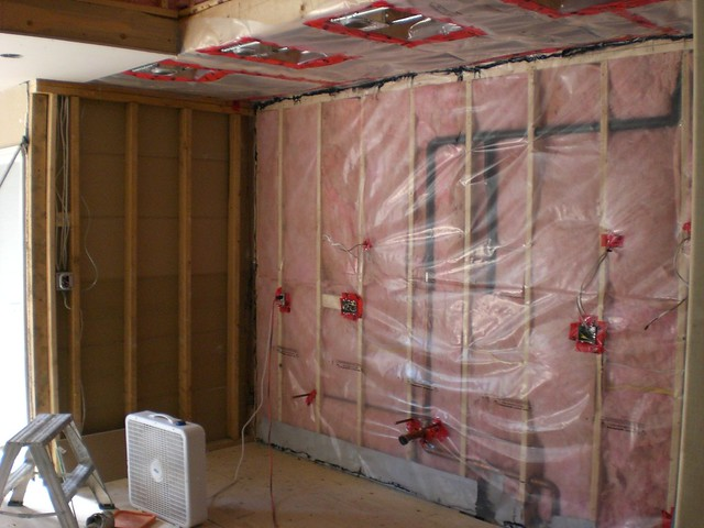 Exterior Wall With Insulation And Vapour Barrier Flickr Photo Sharing