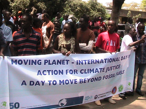 Kenyan youth march through Nairobi to call for climate justice