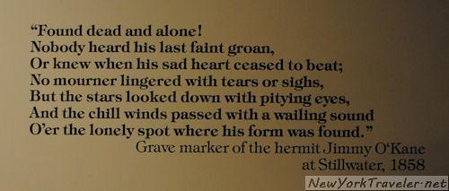 45 Hermit Gravemarker sign
