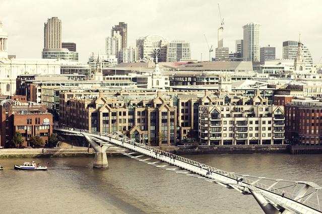 El Puente del Milenium desde el Taten Modern