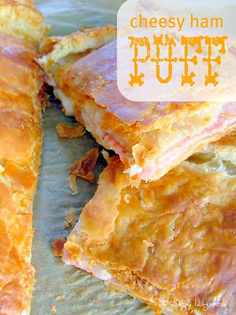 Cheesy Ham Puff