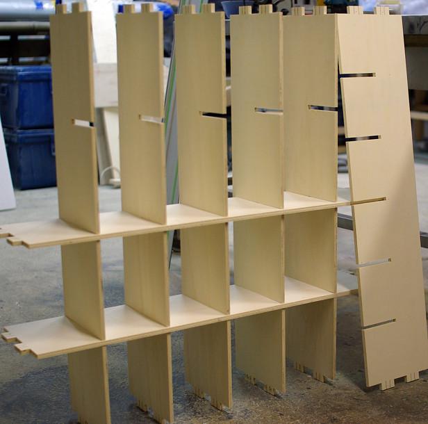 Fabrication meuble rangement mi bois coin de bois flickr for Fabrication meuble bois