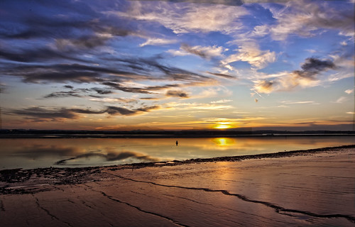 sunset sky night clouds reflections river sand cloudy estuary mersey buoy sandbank nikond40
