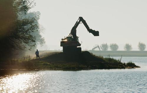Werk aan de dijken - Working on Dutch dikes