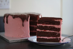 Chocolate, Strawberry & Chocolate Fudge Cake2