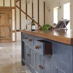 Large Island Worktable Dinibg Table In Kitchen