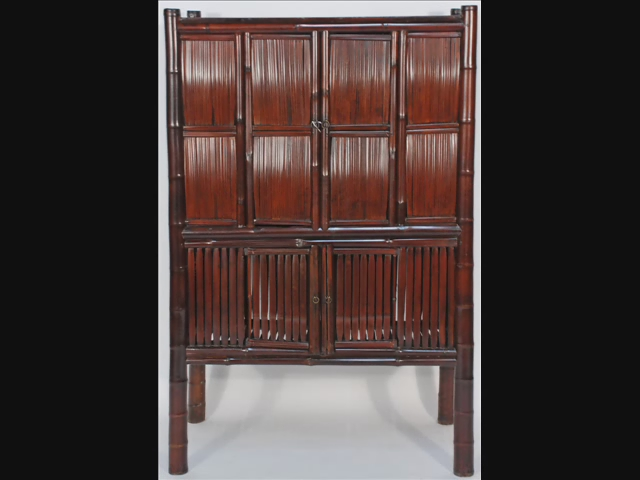 Rare Antique Bamboo Slat Chinese Cabinet Bk0022y Flickr Photo Sharing