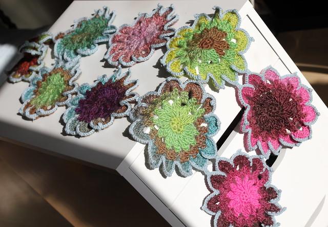 Crochet flower scarf  Flickr  Photo Sharing Crochet Flower Scarves