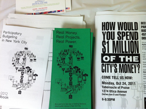 Participatory Budgeting NYC materials