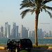 Along Corniche Area, Doha, Qatar... with view of the City Center