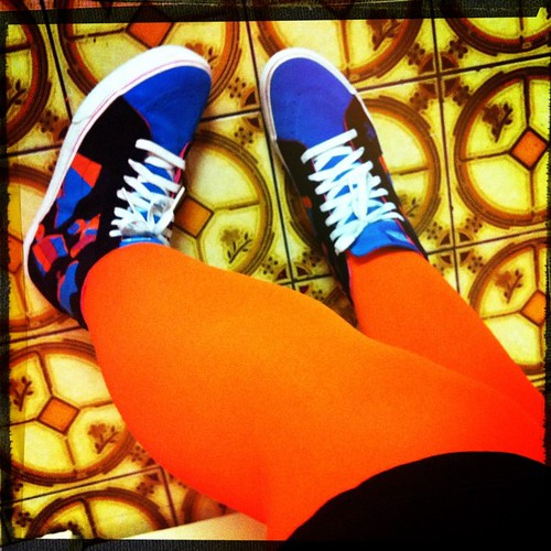 My crazy colour combo kicks for tonight! #vans