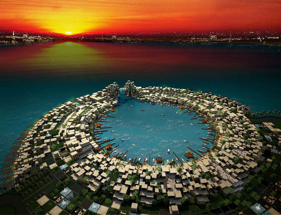 Manama Lagoon in Bahrain, by International Design Studio, photo via Design Top News