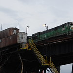 Lake Superior and Ishpeming Railroad at the Presque Isle Ore Dock, Marquette, MI