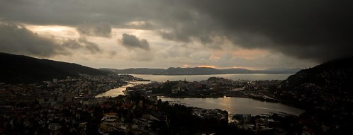 sunset norway view bergen