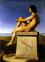 Polites, Son of Priam, Observes the Movements of the Greeks, 1834, by Flandrin