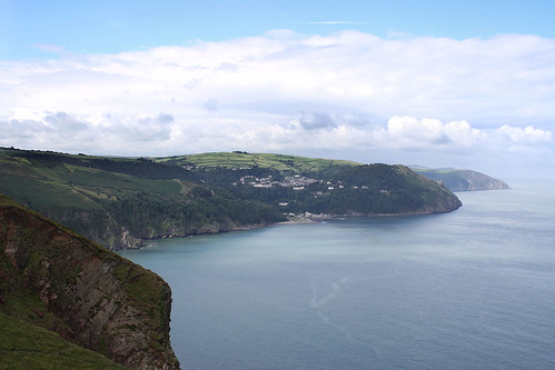 Lynton & Lynmouth from Foreland Point, Devon