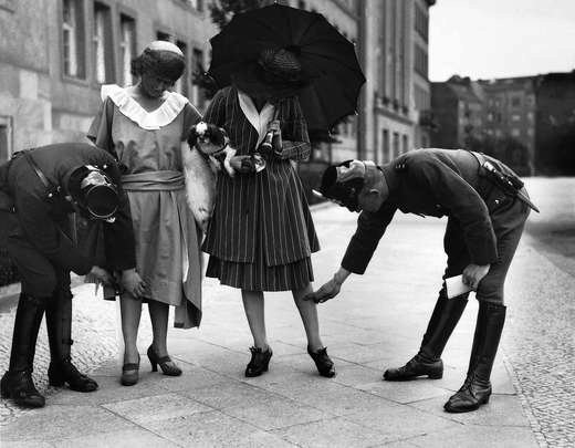 Police checking the length of dresses in 1920s Berlin | Flickr - Photo ...