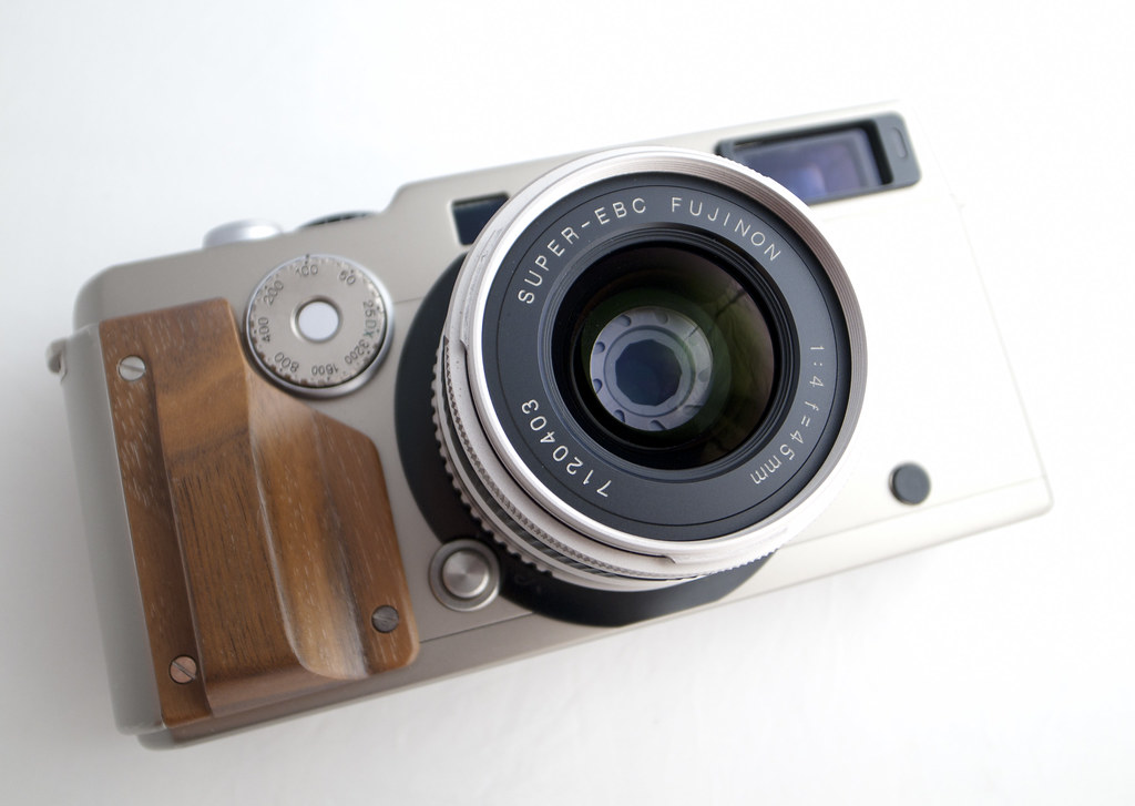 Fujifilm TX-1 with wood grip