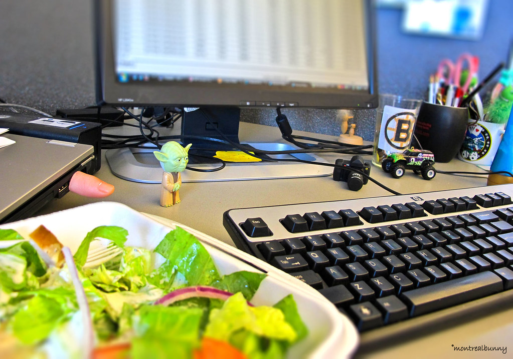 Lunch at desk