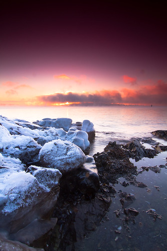 winter sunrise ice sea fog bygdøy tokina1224f4 snow day outdoor ocean water oslofjorden rock formation coast sky cloud serene shore landscape