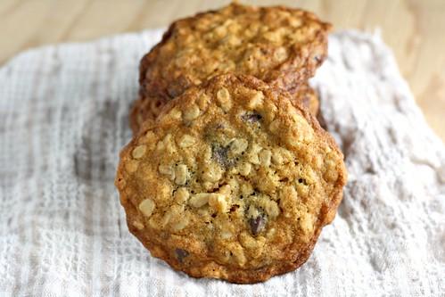 Chocolate-Walnut-Oatmeal Freezer Cookies