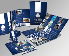 A3 + Trifold Brochure + Flyer + Business card