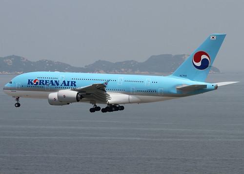 Airbus | A380-861 | Korean Air | HL7612 | Hong Kong | HKG | VHHH