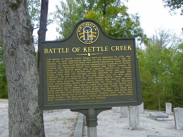 Battle Of Kettle Creek Historical Marker Flickr Photo