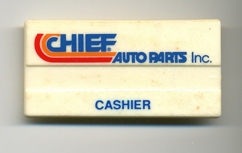 Chief Auto Parts - Cashier Name Badge