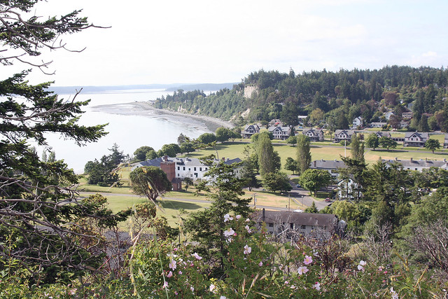 Fort Worden view from the point ontop of Artillery Hill