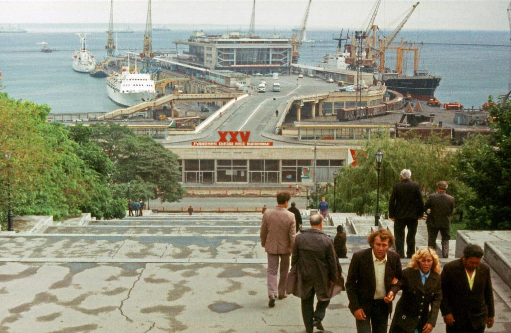 ODESSA-Looking down Potemkin Steps, 5-25-1977