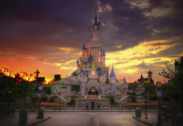 A Disneyland Paris Sunset