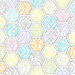 hexagon PENCIL DAMASK standard mel stampz