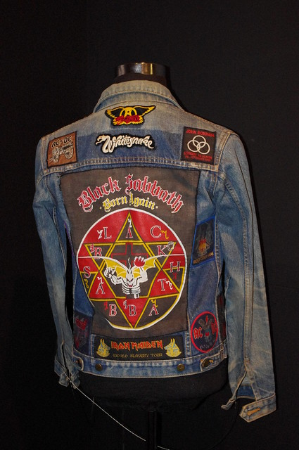 rock jacket patches eBay