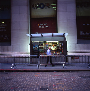 newsstand occupying wall street